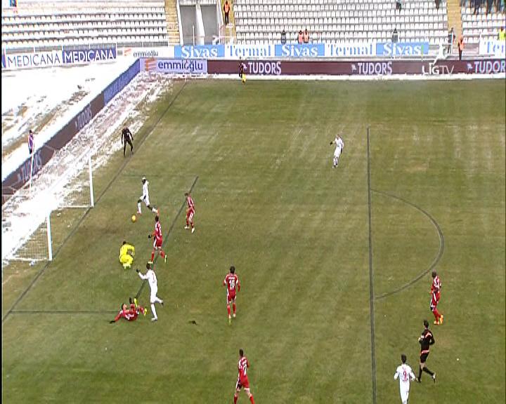 Medicana Sivasspor Eskişehirspor golleri