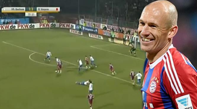 Robben yine çok klas attı!