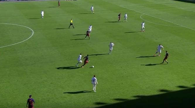 Barça'nın gençleri de uzaylı!.. Yok böyle gol!..